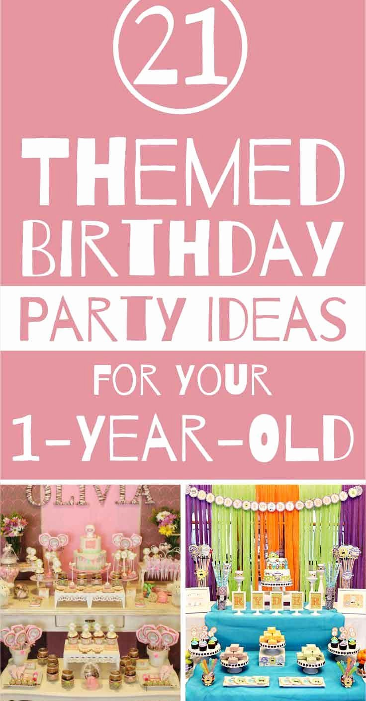 One Year Old Birthday Decoration Ideas Best Of Birthday Party themes for Your E Year Old Unfor Table