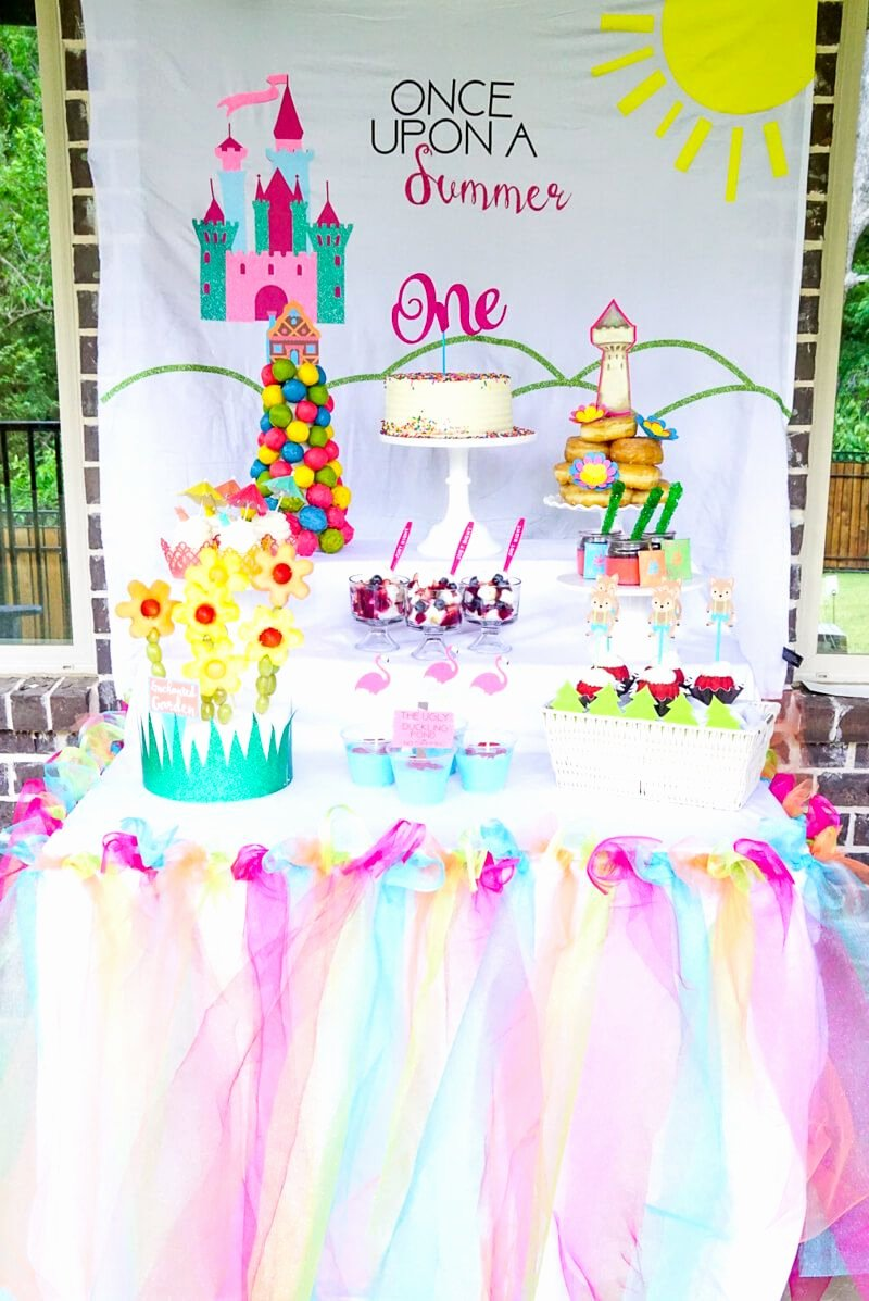 One Year Old Birthday Decoration Ideas Elegant Ce Upon A Summer First Birthday Party Ideas