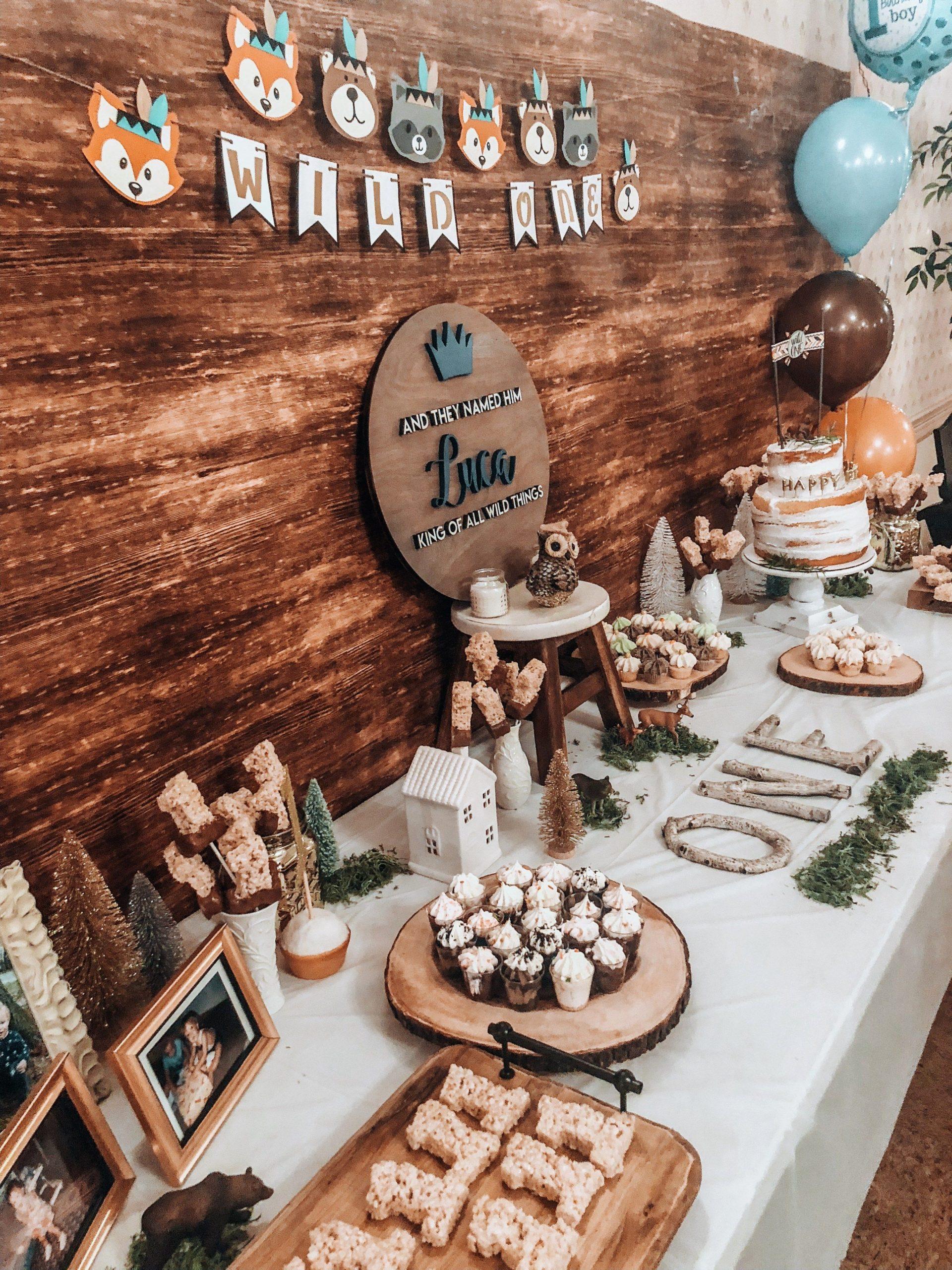 One Year Old Birthday Decoration Ideas Lovely Wild E First Birthday Wild & Wanderlust Blog with
