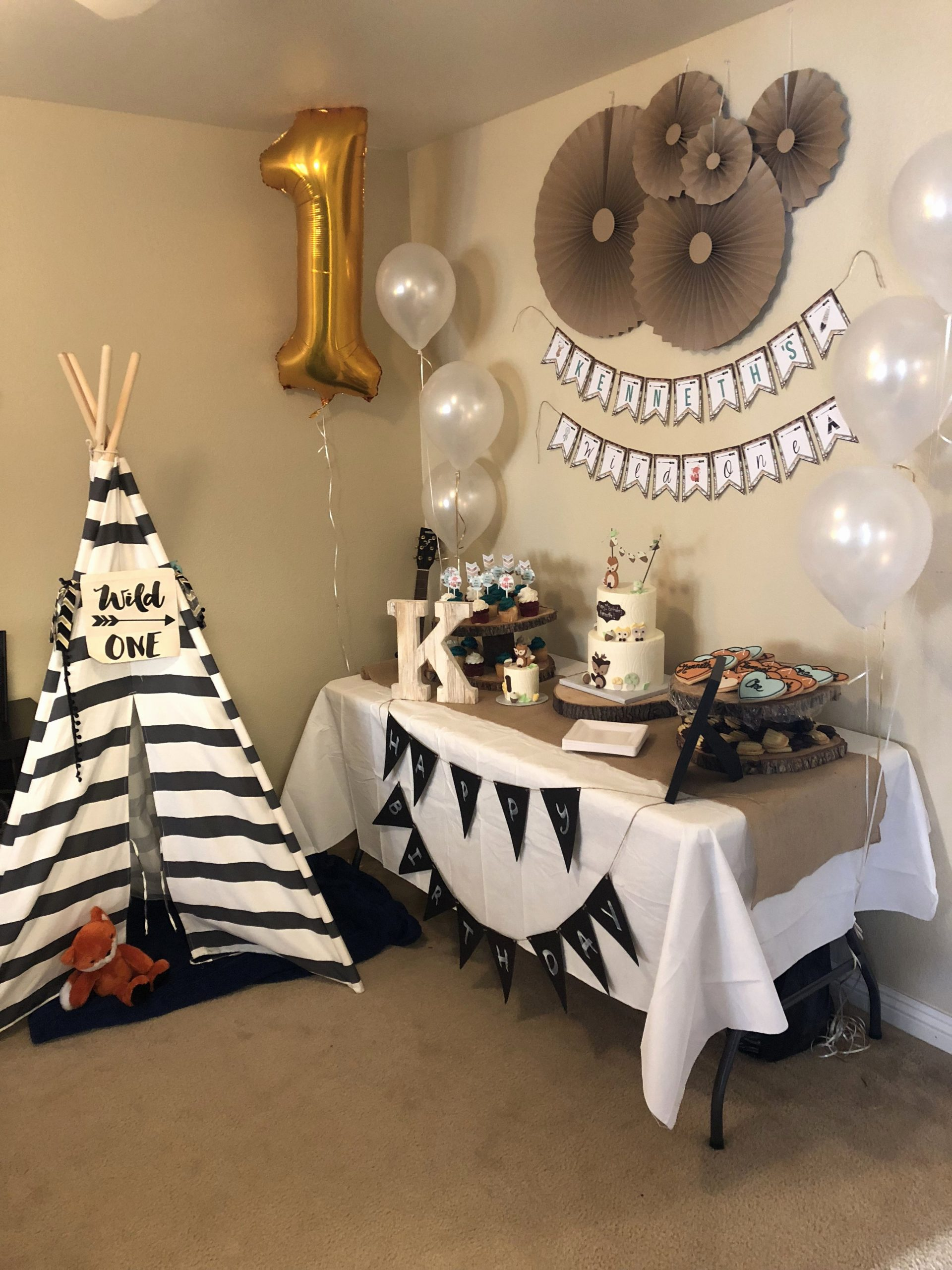 One Year Old Birthday Decoration Ideas New Kenneth S Wild One Birthday Party