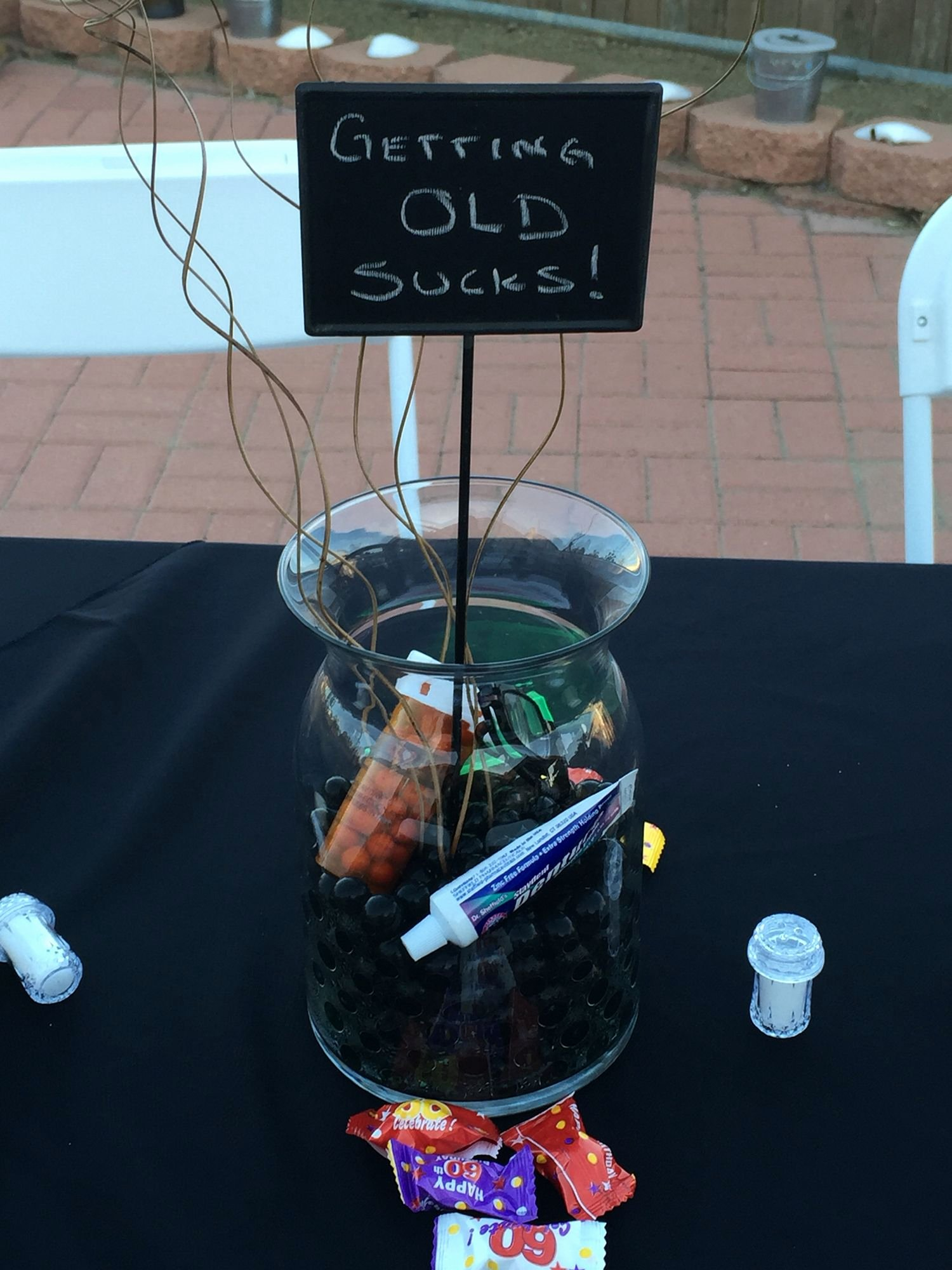 Over the Hill Birthday Decoration Ideas Awesome Over the Hill Centerpiece