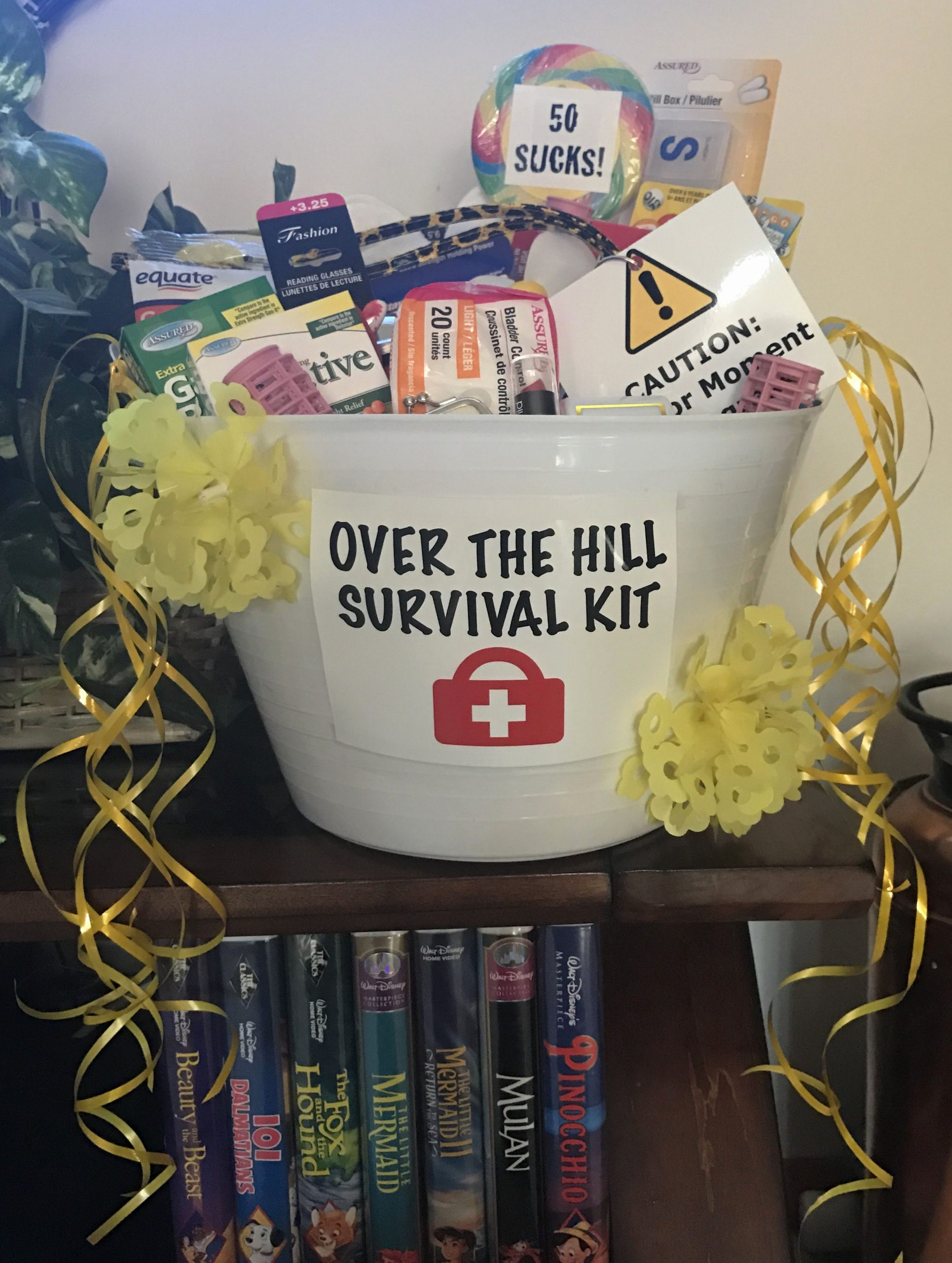Over the Hill Birthday Decoration Ideas Awesome Over the Hill Survival Kit