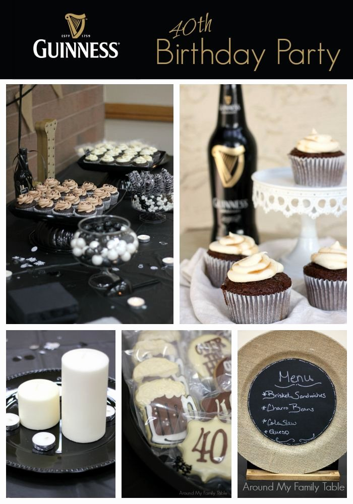 Over the Hill Birthday Decoration Ideas Best Of A Guinness 40th Birthday Party is the Perfect Over the Hill