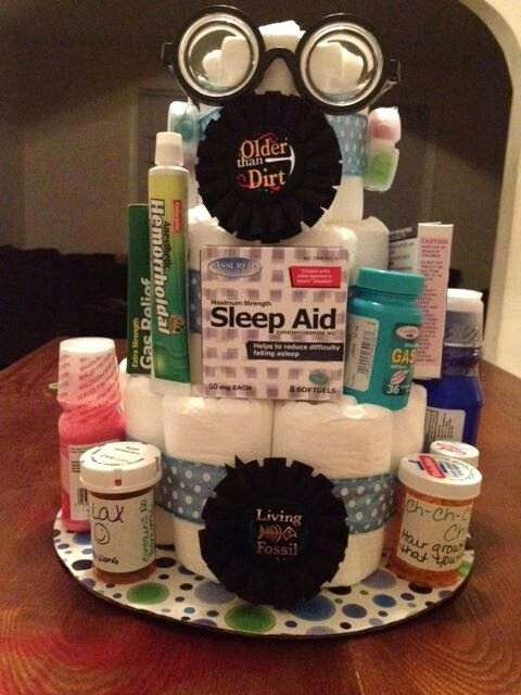 Over the Hill Birthday Decoration Ideas Best Of Over the Hill Diaper Cake