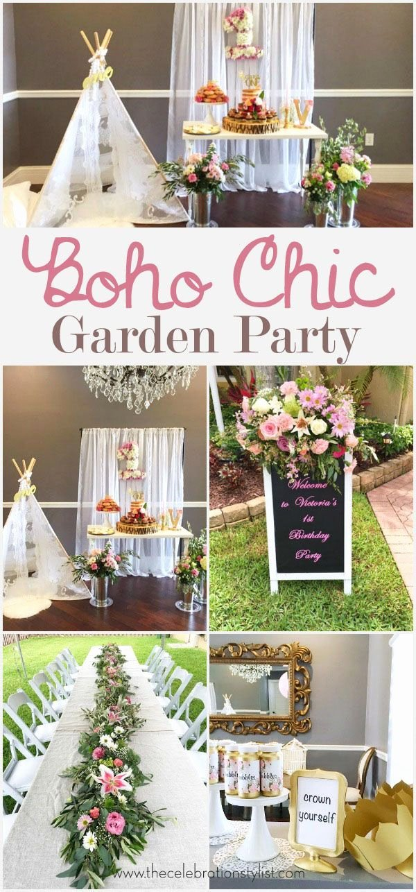 Party Birthday Decoration Ideas Awesome Boho Garden Birthday Party