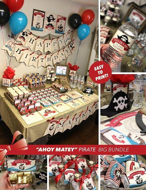 Pirate Birthday Decoration Ideas Lovely Pirate Printable Party Pirate Birthday Printables Pirate