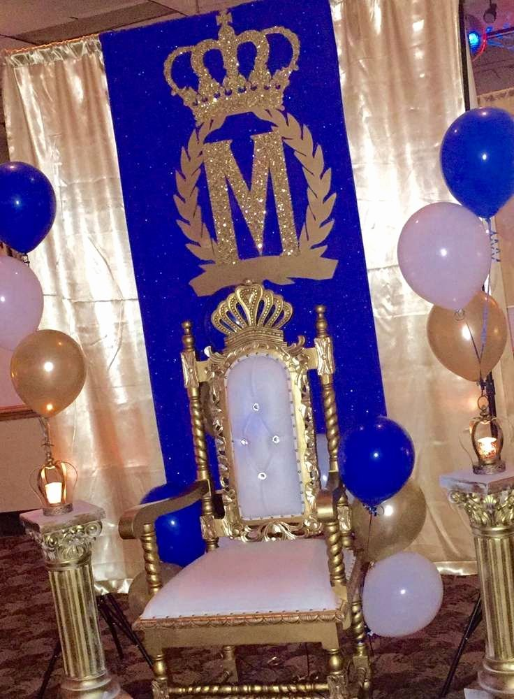 Prince Birthday Decoration Ideas Awesome Royal Prince Birthday Party Ideas 9 Of 11