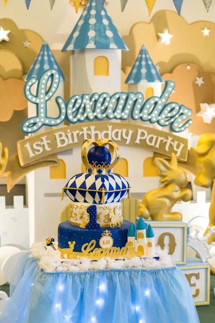 Prince Birthday Decoration Ideas Inspirational Prince Royal 1st Birthday Party