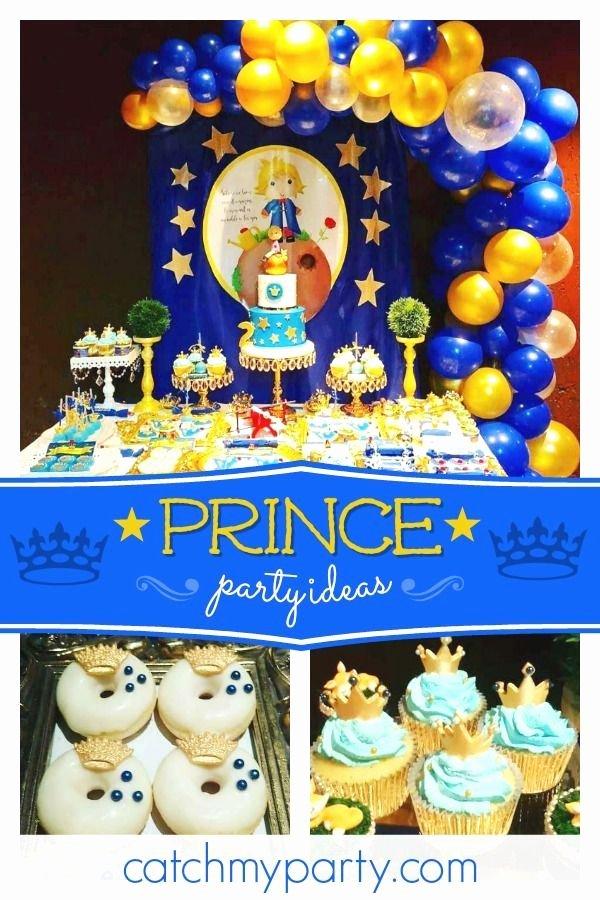 "Prince Birthday Decoration Ideas Inspirational the Little Prince Birthday ""the Little Prince Incredible"