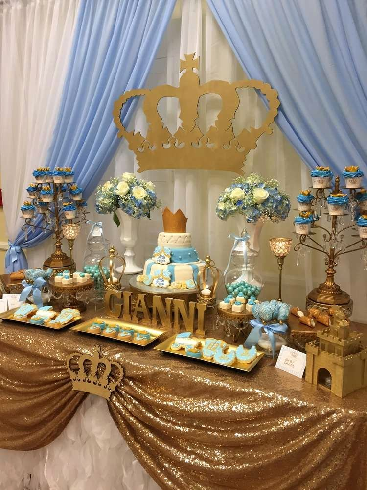 Prince Birthday Decoration Ideas Luxury Prince Baby Shower Party Ideas 1 Of 7