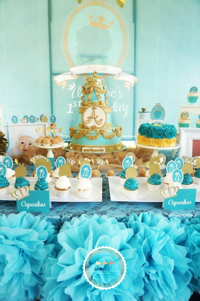 Prince Birthday Decoration Ideas Unique Royal Prince First Birthday Party Ideas Planning Decor