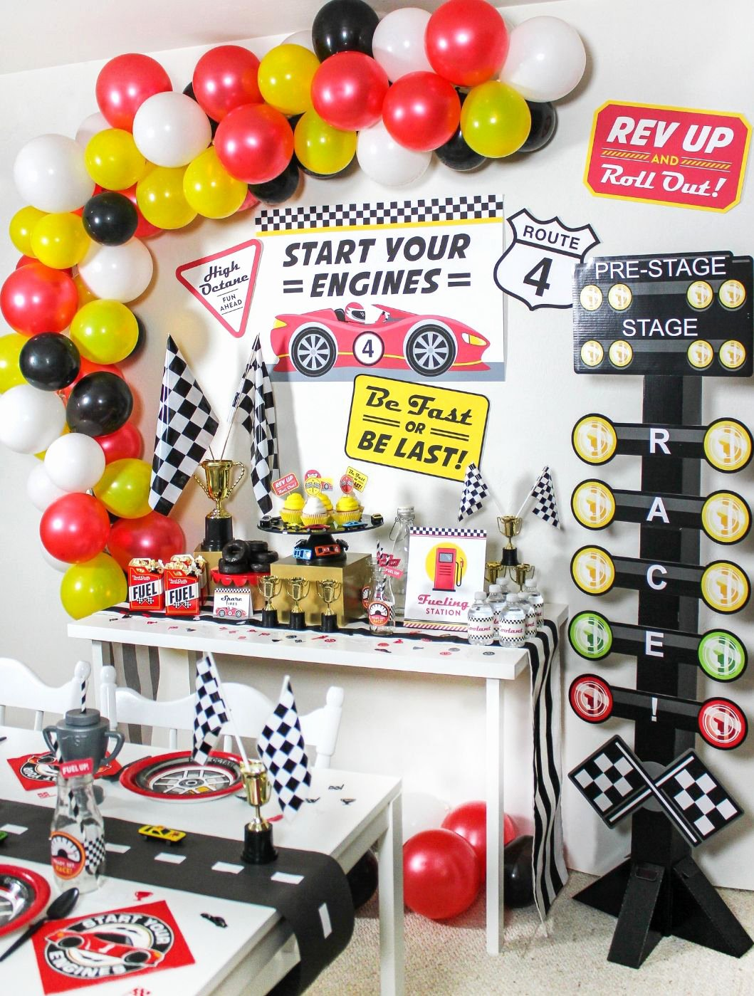 Race Car Birthday Decoration Ideas Beautiful Kids Race Car Birthday Party