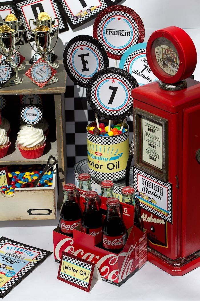 Race Car Birthday Decoration Ideas Fresh Vintage Race Car themed Birthday Party Decor Planning
