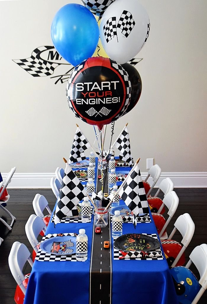 Race Car Birthday Decoration Ideas Inspirational Maverick S Speedy Race Car Birthday Party