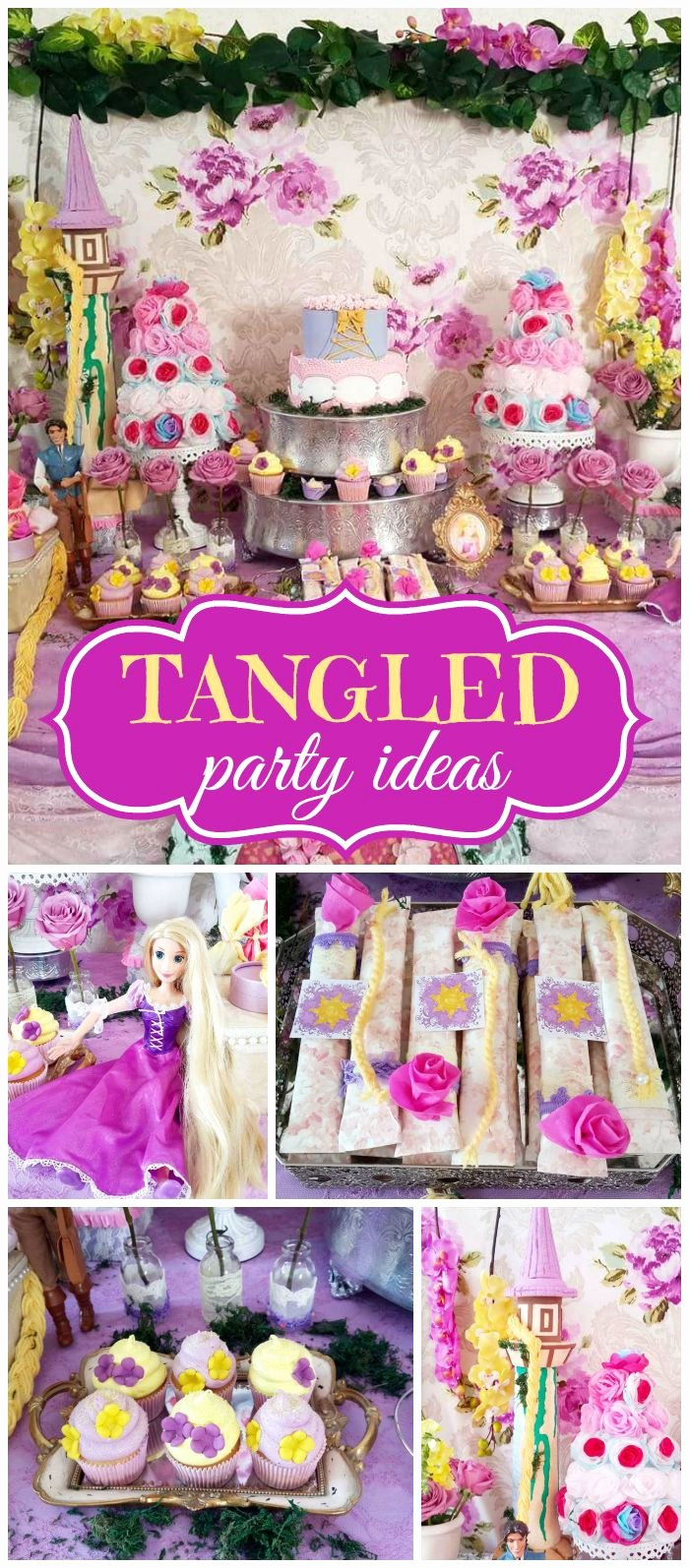 "Rapunzel Birthday Decoration Ideas Inspirational Rapunzel Birthday ""rapunzel Party"""