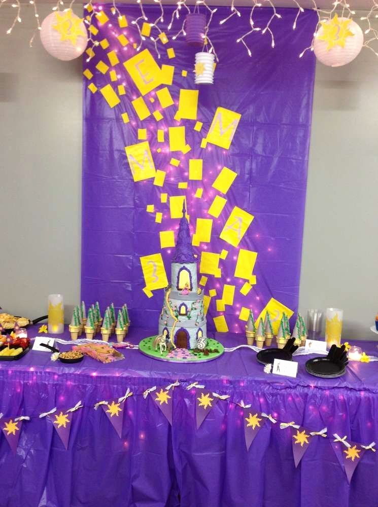 Rapunzel Birthday Decoration Ideas Luxury Rapunzel Tangled Birthday Party Ideas