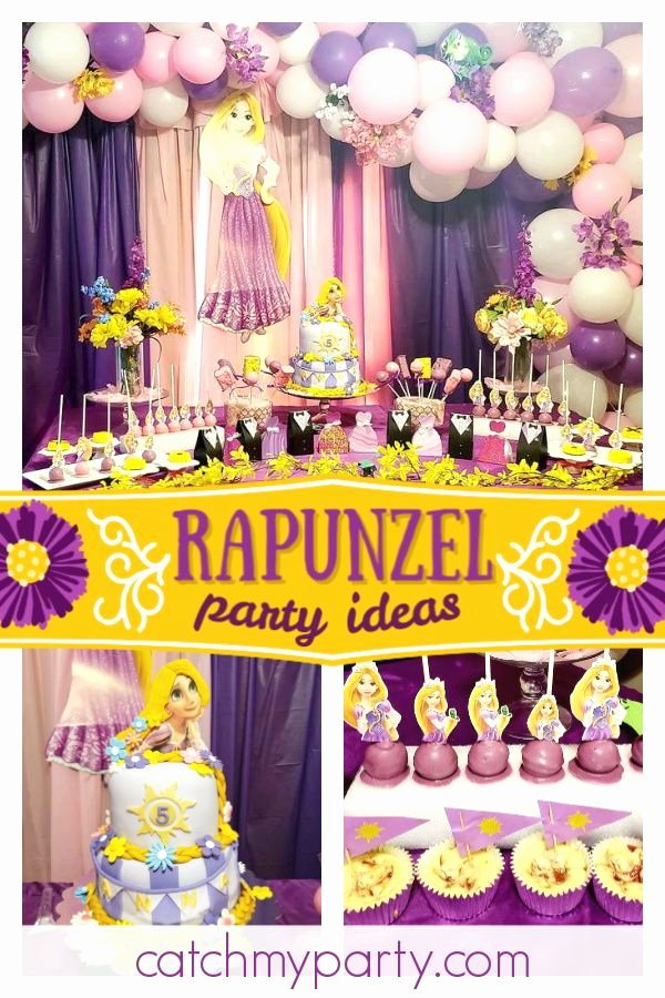 "Rapunzel Birthday Decoration Ideas Luxury Rapunzel Tangled Birthday ""best Day Ever """