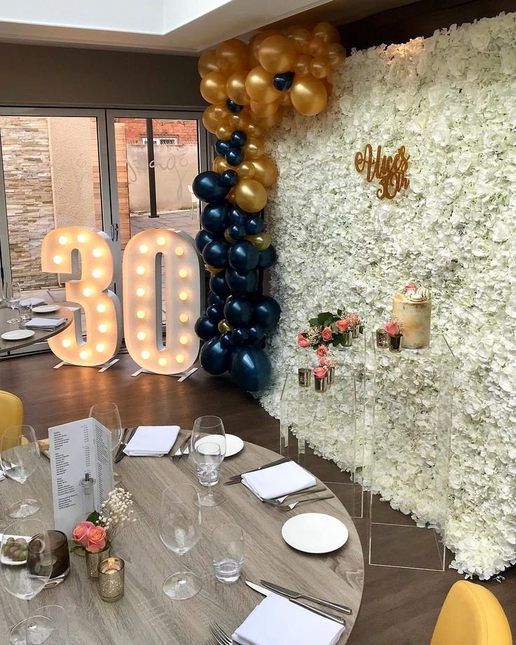 Restaurant Birthday Decoration Ideas Awesome We are Absolutely Loving This evenings 30th Birthday Party
