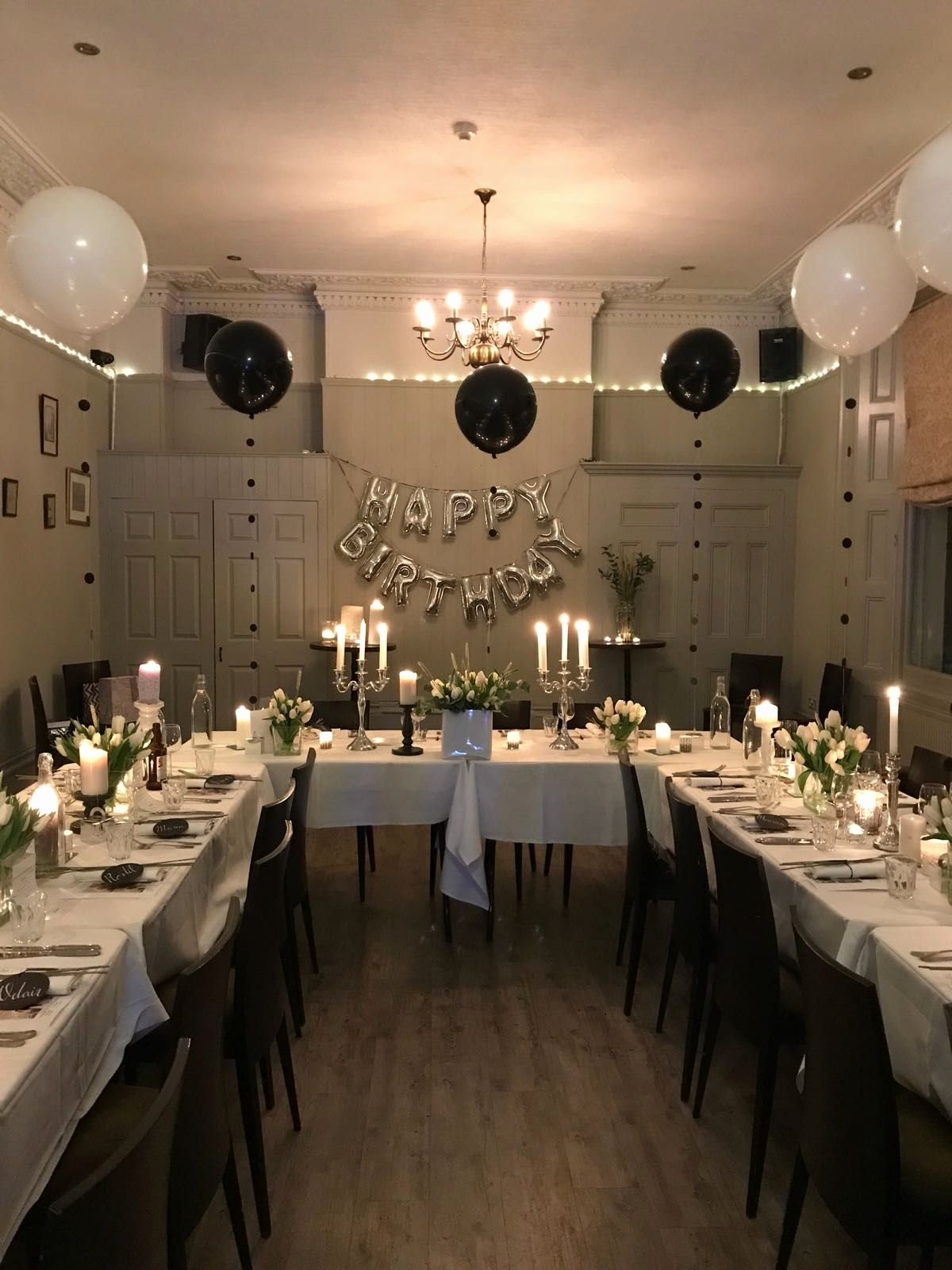 Restaurant Birthday Decoration Ideas Beautiful Classic Birthday Party