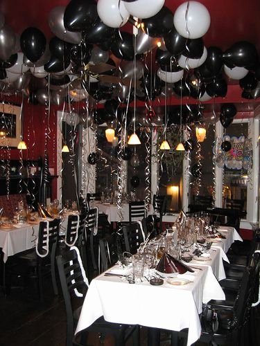 Restaurant Birthday Decoration Ideas Fresh Black and White theme Party White Party