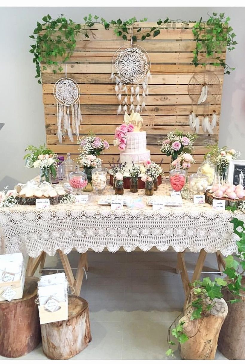 Rustic Birthday Decoration Ideas Awesome Our Pallet Wall and Wooden Trestle Table are Used In This