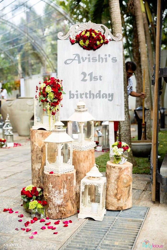 Rustic Birthday Decoration Ideas Lovely Kara S Party Ideas Rustic Vintage 21st Birthday Party