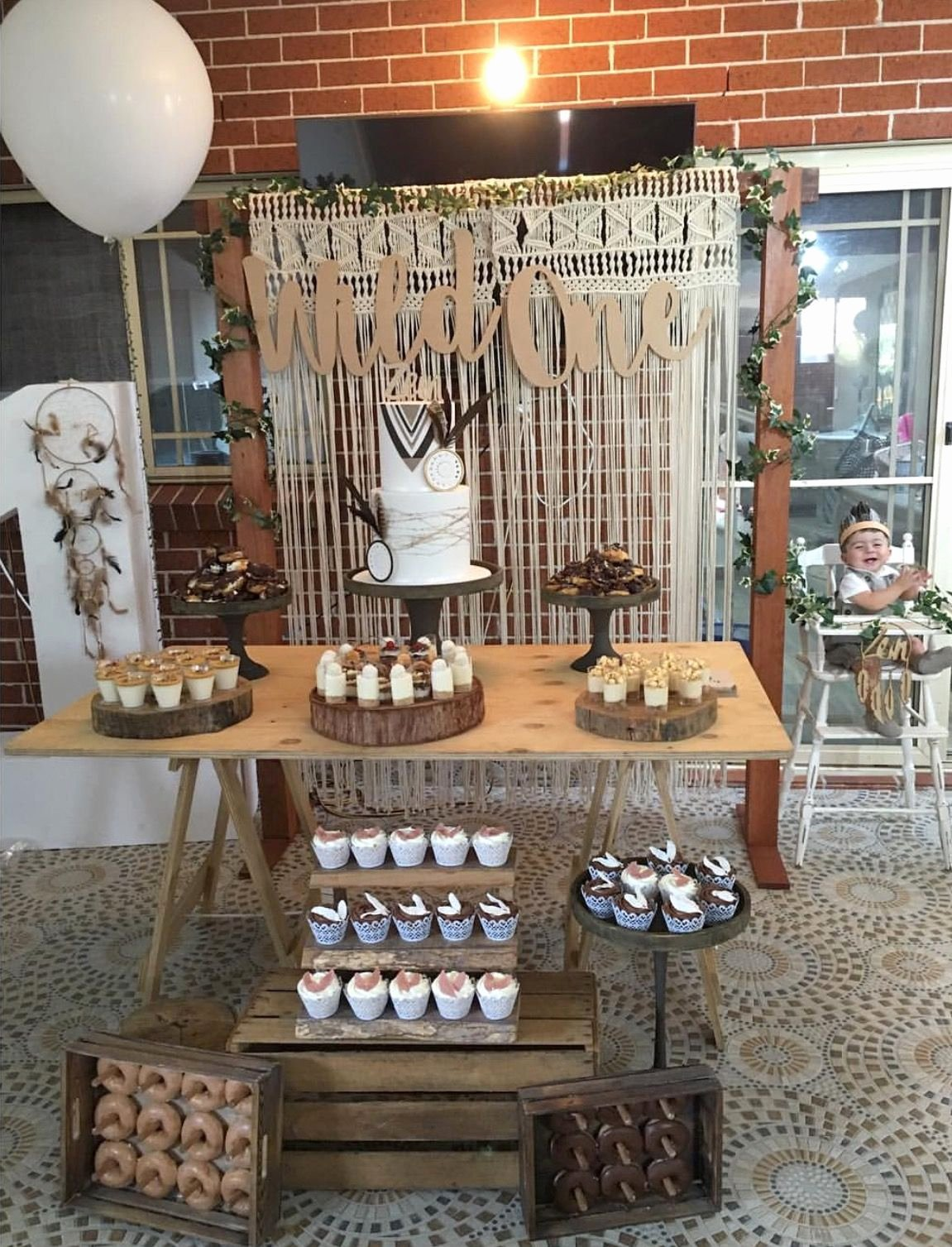 Rustic Birthday Decoration Ideas New Wild One Diy Styling Using All Our Rustic Props Trestle