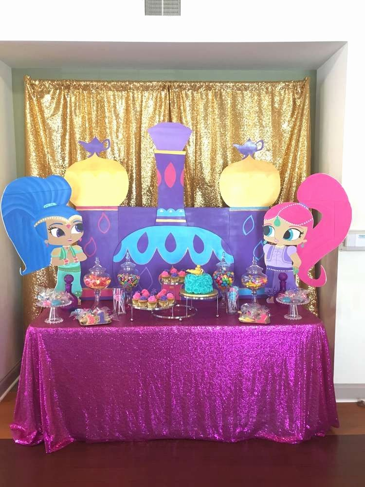 Shimmer and Shine Birthday Decoration Ideas Awesome Shimmer and Shine Birthday Party Ideas