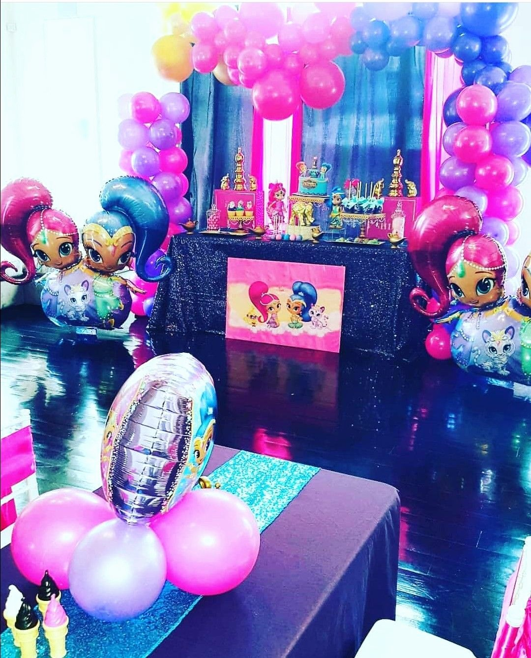 Shimmer and Shine Birthday Decoration Ideas Awesome Shimmer and Shine theme Birthday Party