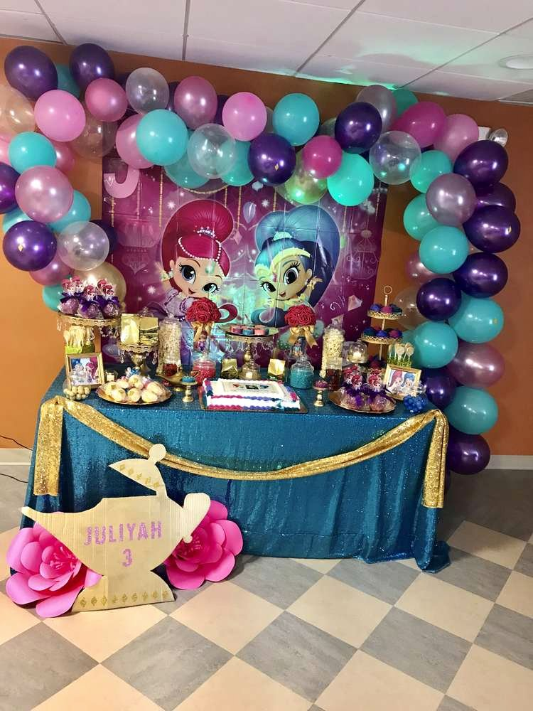 Shimmer and Shine Birthday Decoration Ideas Inspirational Shimmer and Shine Birthday Party Ideas