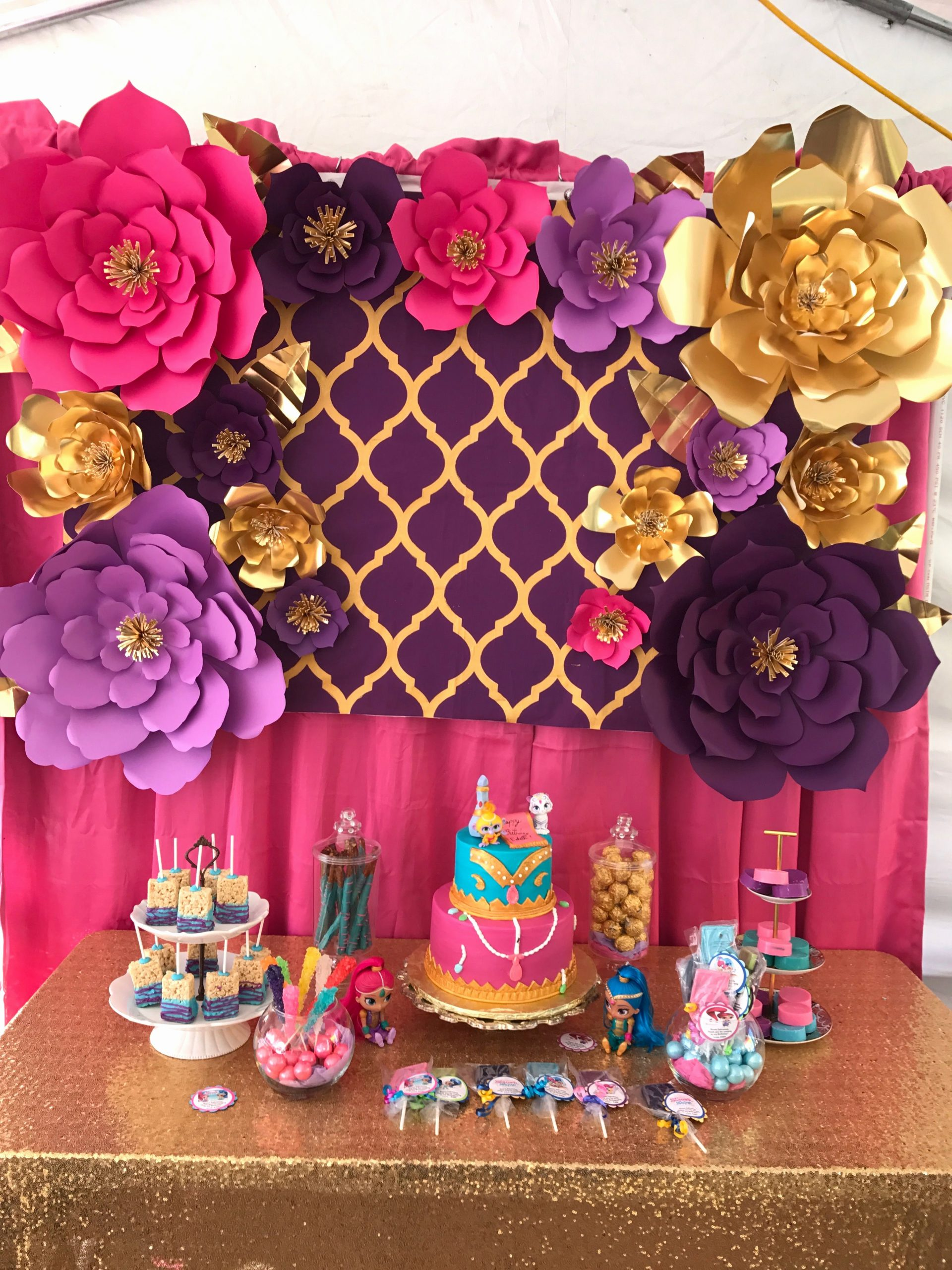 Shimmer and Shine Birthday Decoration Ideas Inspirational Shimmer and Shine Dessert Table Party Table Ideas