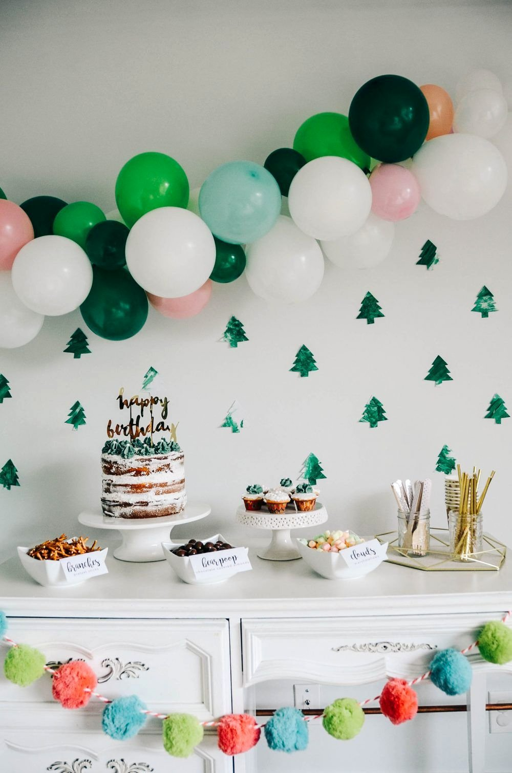 Simple Birthday Decoration Ideas at Home for Boy Inspirational Woodlane Fourest forest themed Birthday Party