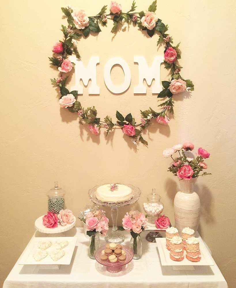 Simple Birthday Decoration Ideas at Home for Mom Luxury Florals Birthday Party Ideas 1 Of 9