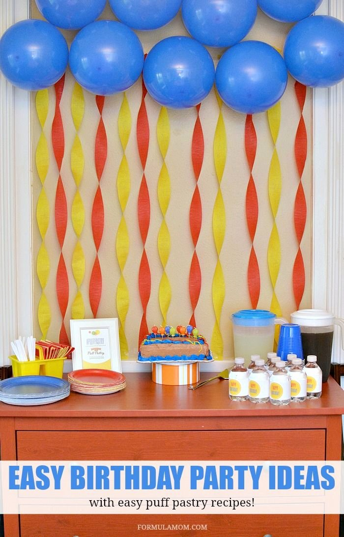 Simple Birthday Decoration Ideas for Adults Beautiful Puff Pastry Party Ideas for Birthdays Puffpastry Ad