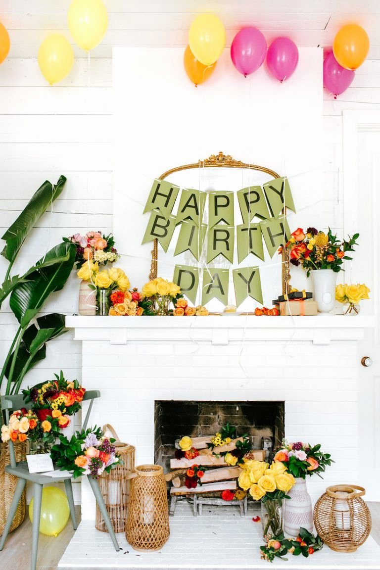 Simple Birthday Decoration Ideas for Adults Luxury 20 Diy Birthday Party Decoration Ideas Cute Homemade