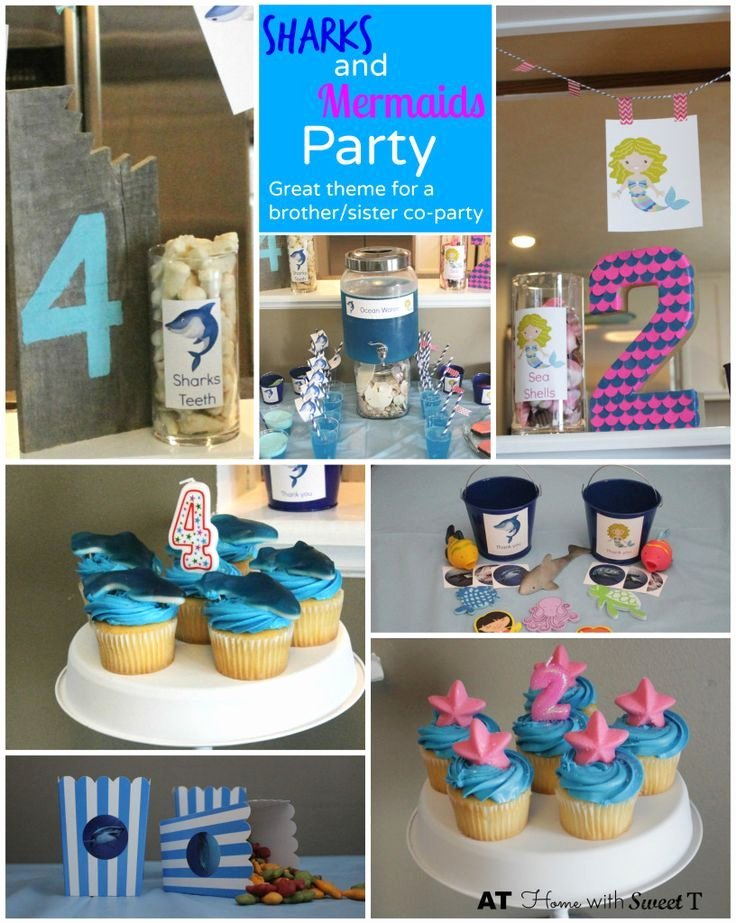 Sister Birthday Decoration Ideas Luxury Sharks and Mermaids Party