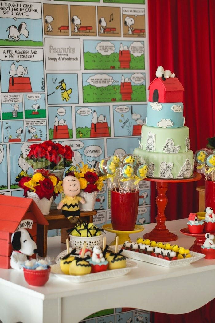 Snoopy Birthday Decoration Ideas Elegant Snoopy themed Birthday Party