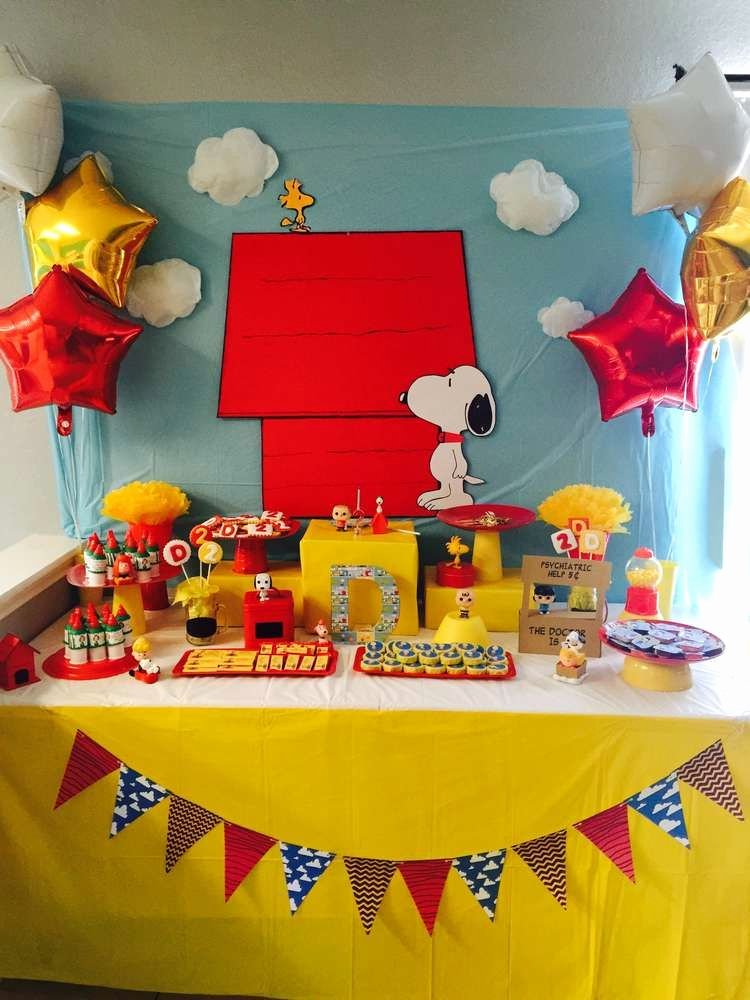 Snoopy Birthday Decoration Ideas Fresh Snoopy and Friends Birthday Party Ideas