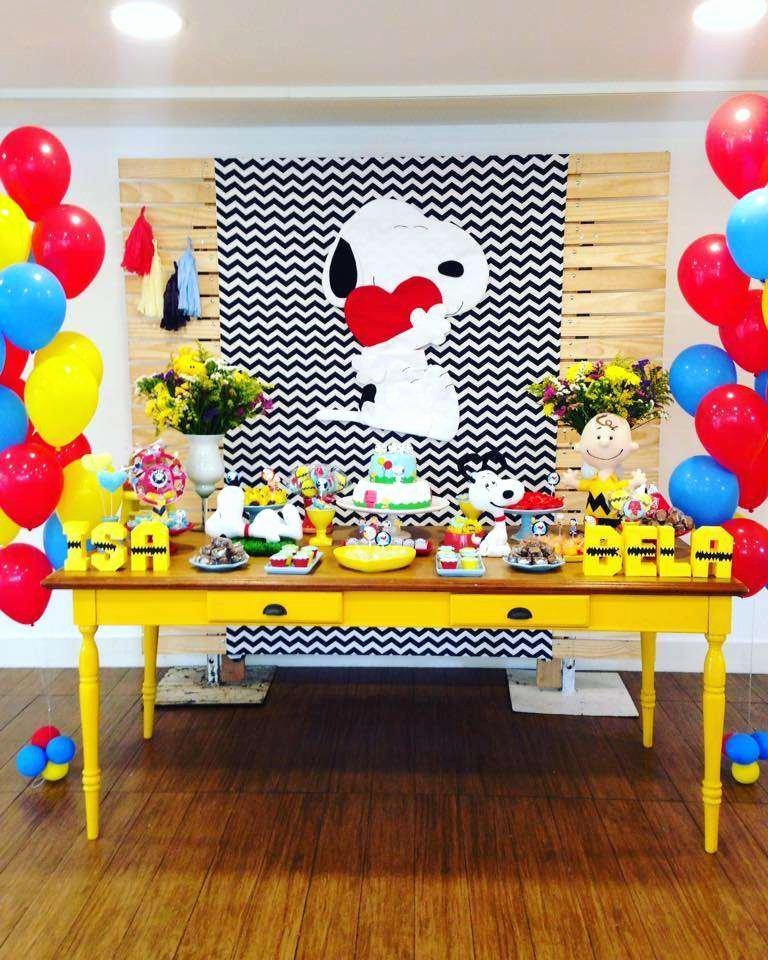 Snoopy Birthday Decoration Ideas Fresh Snoopy Birthday Party Ideas 1 Of 9