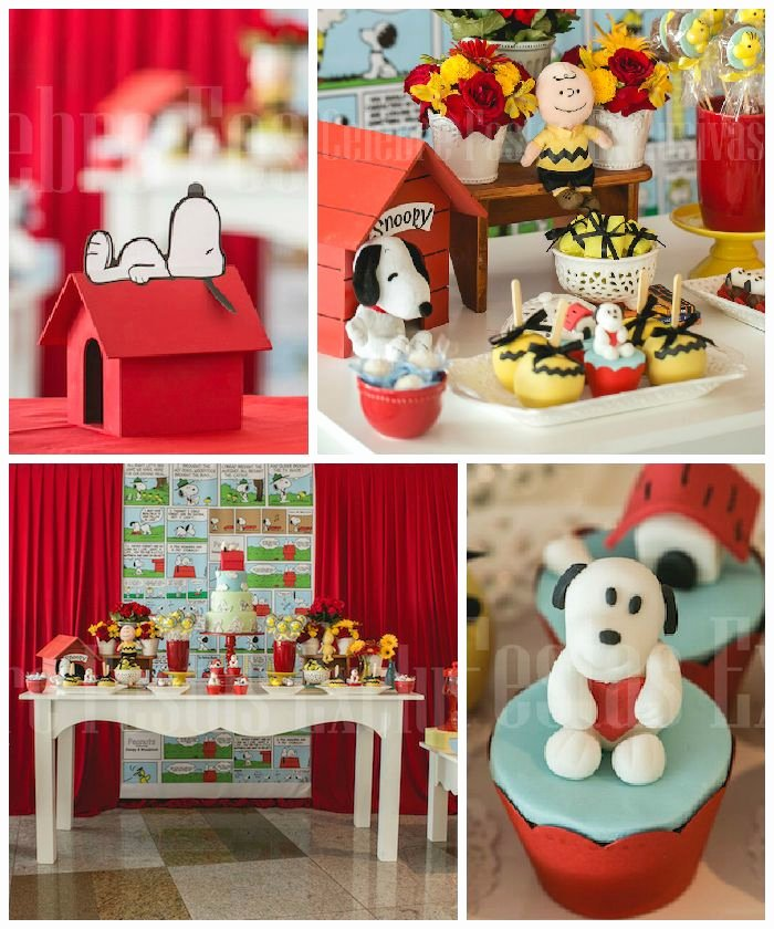 Snoopy Birthday Decoration Ideas New Snoopy themed Birthday Party