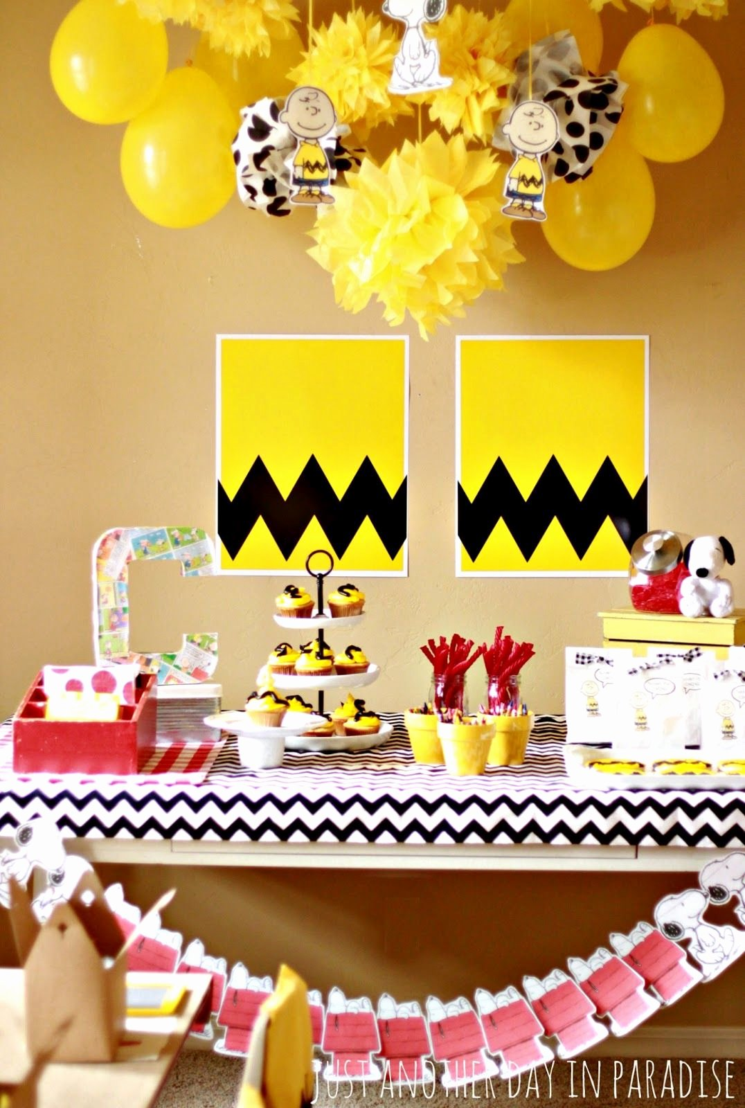 Snoopy Birthday Decoration Ideas Unique Just Another Day In Paradise A Charlie Brown Birthday Party