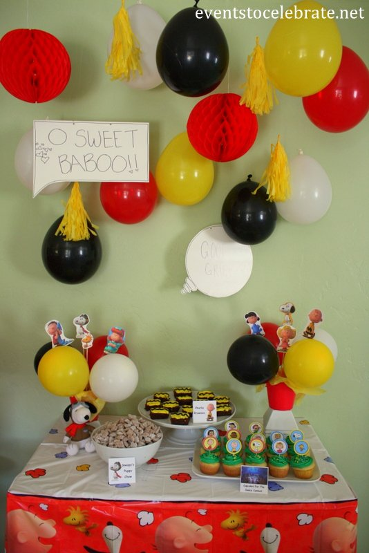 Snoopy Birthday Decoration Ideas Unique Peanuts Birthday Party Ideas