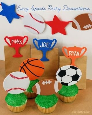 Sports Birthday Decoration Ideas Awesome Easy Sports Party Decorations & Favors Things to Make and