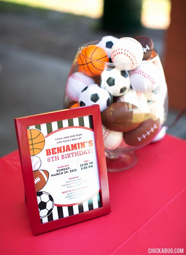Sports Birthday Decoration Ideas Best Of All Star Sports Party Benjamin is 6 Chickabug
