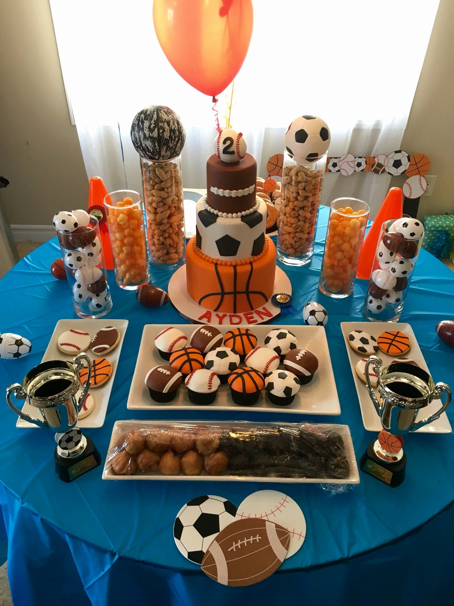 Sports Birthday Decoration Ideas Best Of Sports Birthday theme Dessert Table for Ayden S 2nd