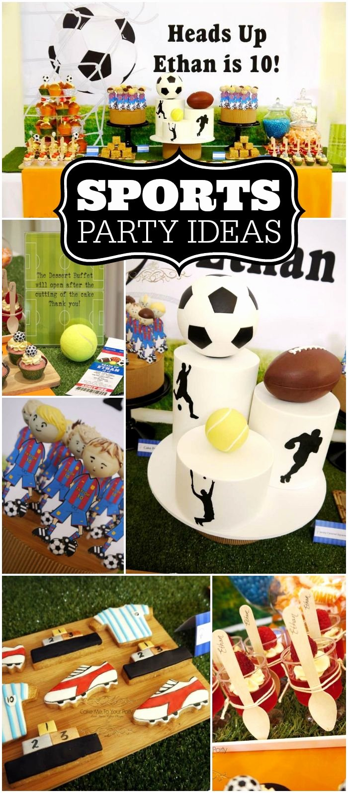 "Sports Birthday Decoration Ideas Fresh All Sports Party Birthday ""double Digit Birthday 10"