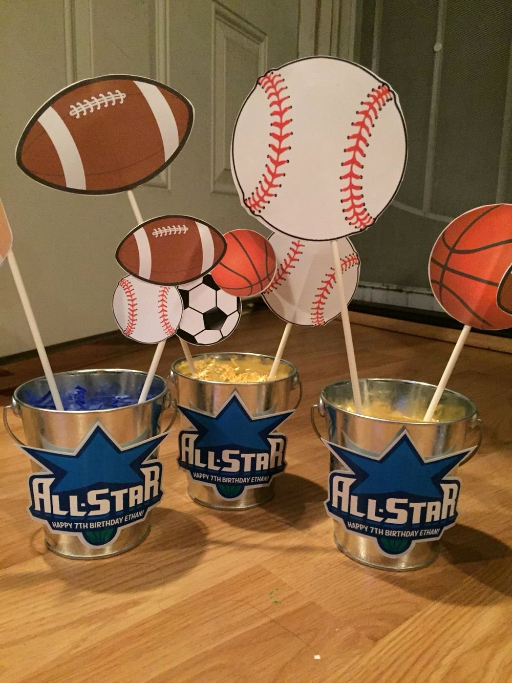 Sports Birthday Decoration Ideas Lovely Diy Sports themed Center Pieces