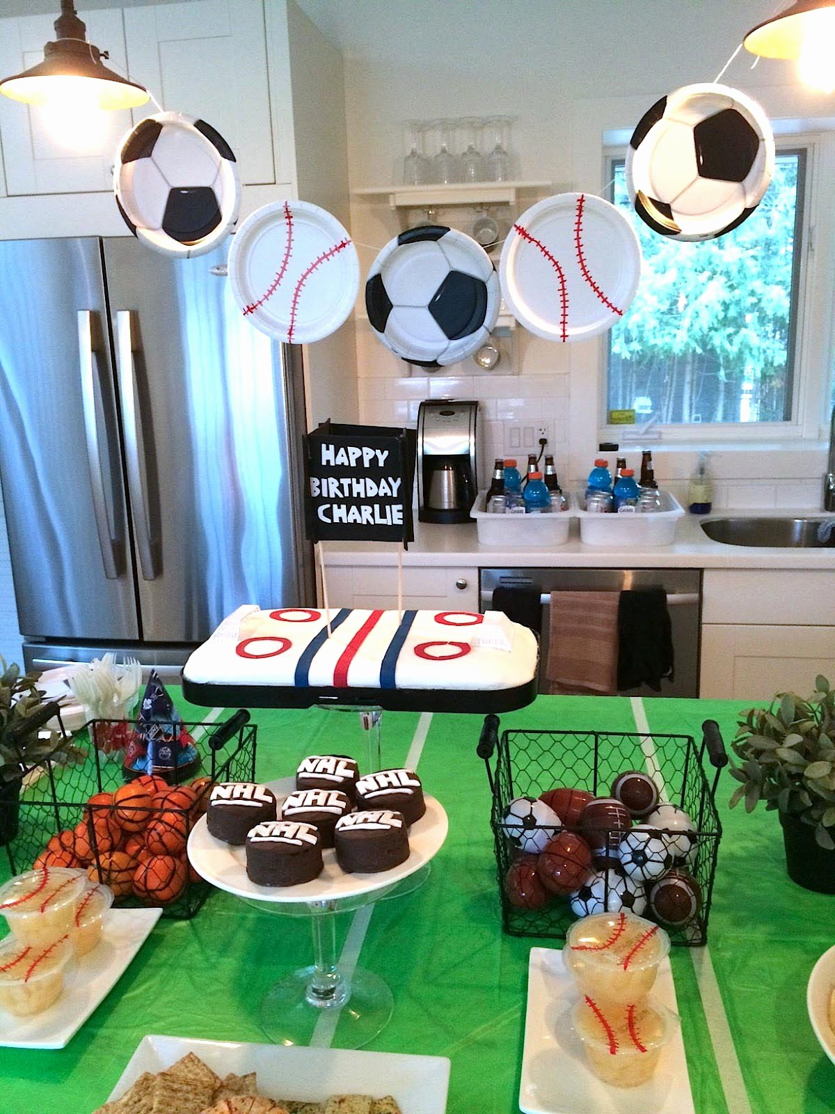 Sports Birthday Decoration Ideas Lovely Sports themed Birthday Parties