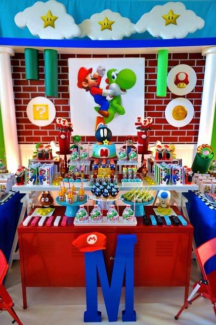 Super Mario Birthday Decoration Ideas Beautiful Super Mario Bros Birthday Party Ideas