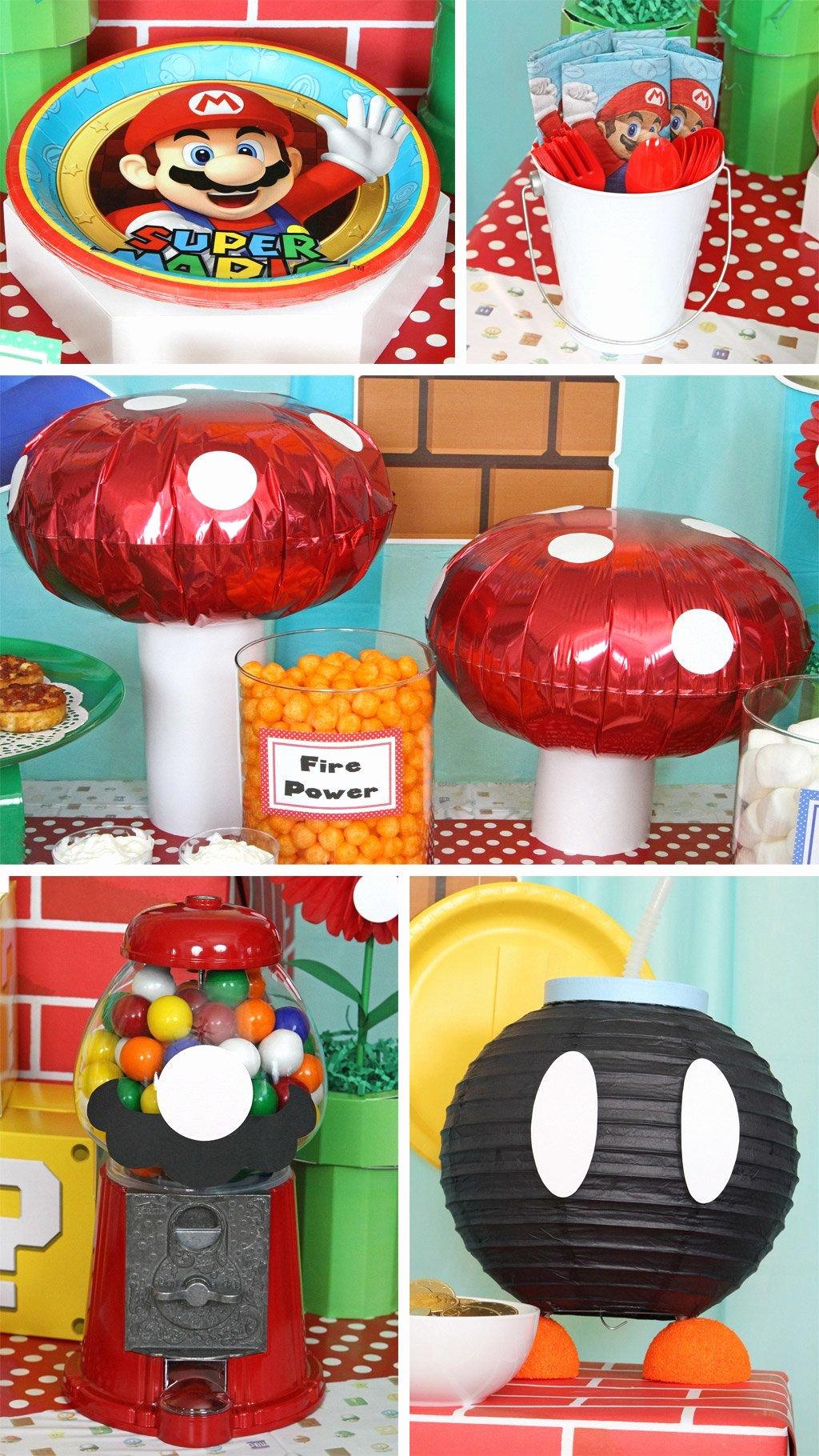 Super Mario Birthday Decoration Ideas Beautiful Super Mario Bros Party Ideas